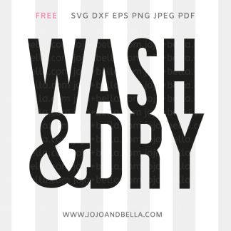 Free Wash and Dry Svg for Cricut and Silhouette crafting