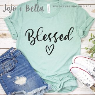 Free Blessed Svg for Cricut and Silhouette
