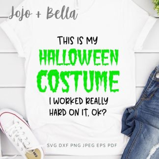 Free Halloween Costume Svg for Cricut and Silhouette