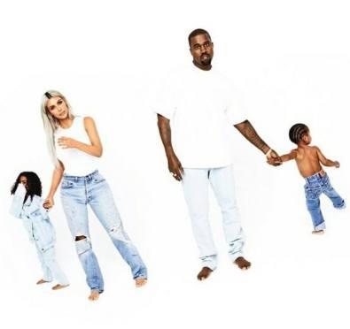 Kim Kardashian Shares New Calvin Klein Inspired 2017 Full Kardashian Family Christmas Card Photo Shoot [Pics]