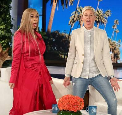 Watch: Cardi B Makes Her First Appearance on 'Ellen' To Dish on Rise To Fame, Baby Names, Stripping, Coachella & More