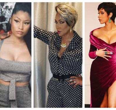 """Here For It: Vivica A. Fox Keeps It 100 on Nicki Minaj vs. Cardi B, """"Nicki Is Very Passive Aggressive, Selfish...Cardi Can't Allow Her To Mess Up Her Brand"""" [Video]"""