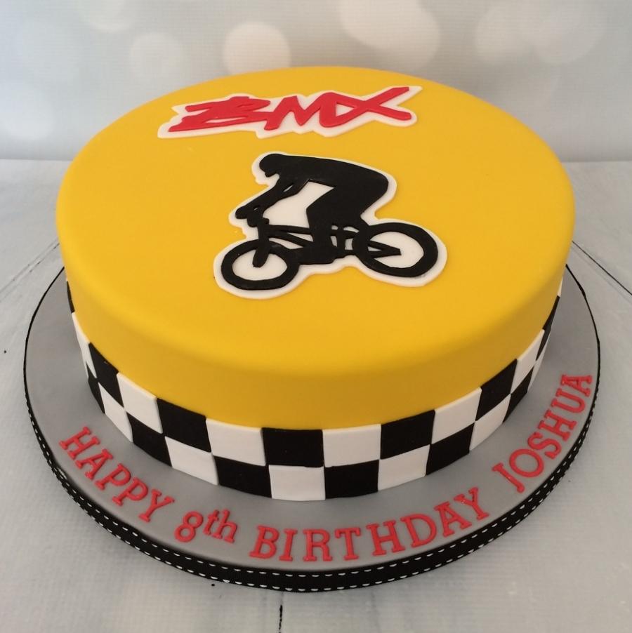 Large Bmx Cycling Theme Cake