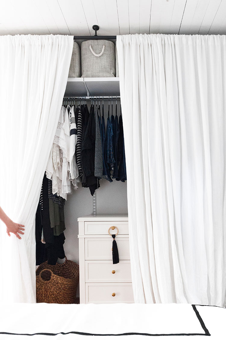 how we added a small space closet