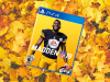 Madden NFL 19 PlayStation 4 Cover resting in pile of fall leaves at Thanksgiving