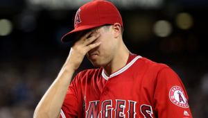 tyler skaggs after walking five batters during another lost season for the halos