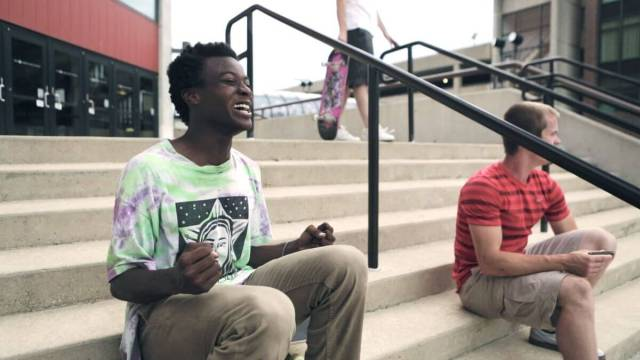 A scene from the new Hulu Original, Minding the Gap.