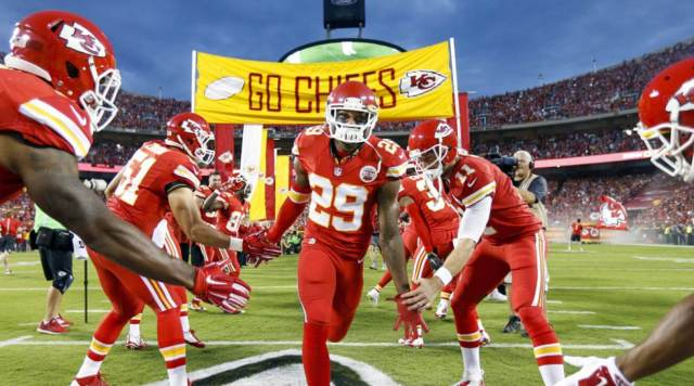 Eric Berry trots onto the field and records his first interception since returning from cancer