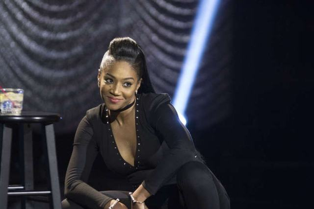 Tiffany Haddish bends down and gazes into the crowd with a smirk on her Showtime Comedy Special. Tiffany Haddish's childhood was full of adversity and today she's a shining example of strength and resilience.