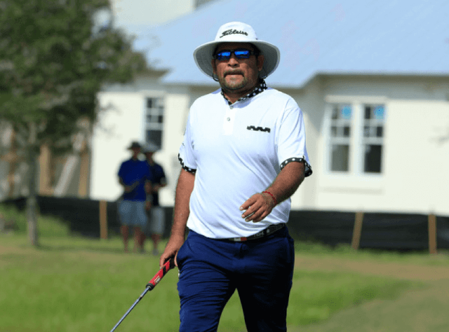 """Jose de Jesus Rodriguez is impressive in the short game. He also enjoys talking to his golf balls, telling them to """"get in the hole"""""""