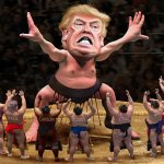 Donald Trump Caricature - Little Johnny