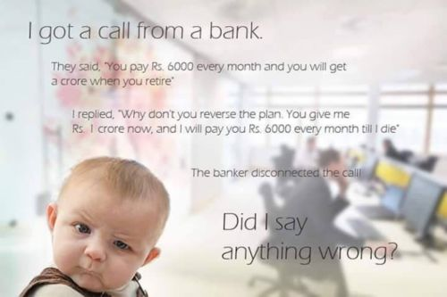 best reply to the bank call
