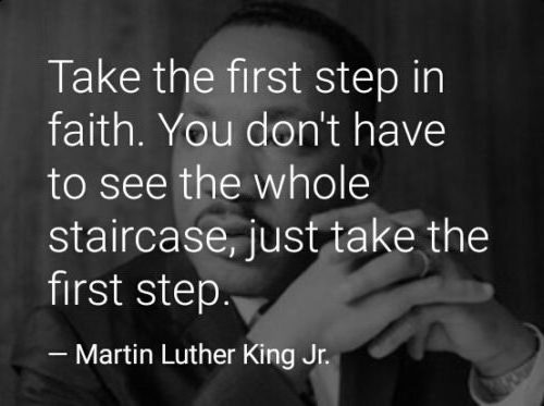 Always take the first step in faith