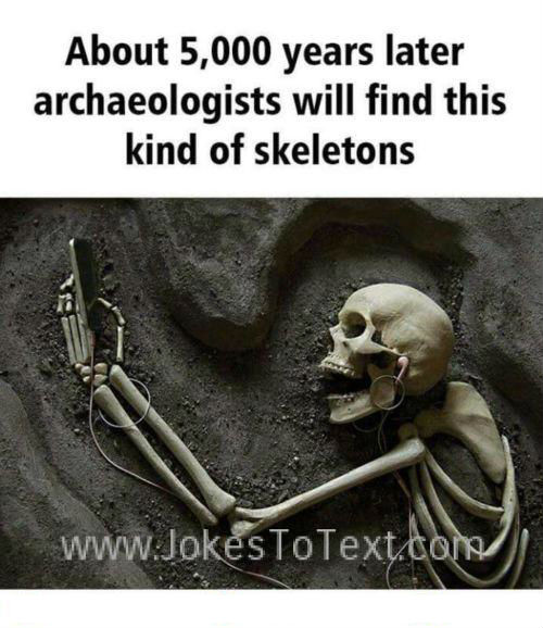 A new type of skeleton that will found by archeologists in future