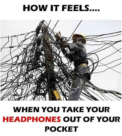 When you take your headphones out
