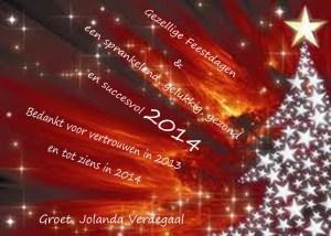 kerstkaart zakelijk dec 2013