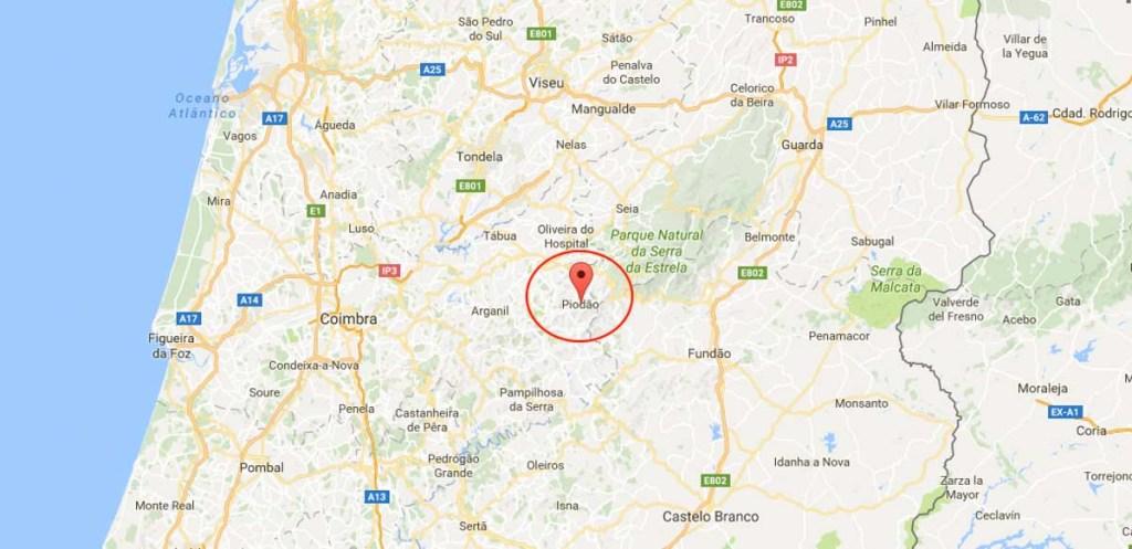 piodão mapa de portugal Aldeia histórica de Piódão | Guia e Dicas de Viagem | Joland piodão mapa de portugal