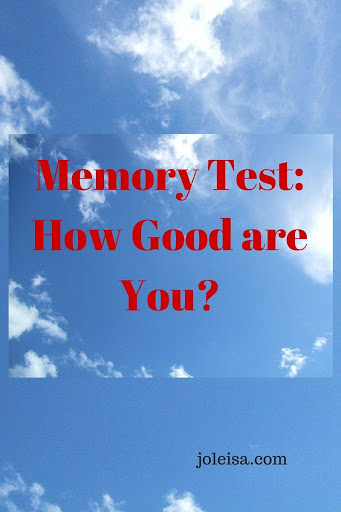 Memory Test: How Good are you?