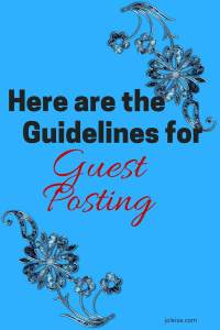 If you would like to see the accepted guidelines for guest posting, check out this post. And the girls at joleisa also welcome your guest post.