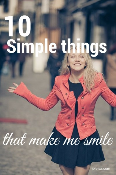 Ten simple things that make me smile