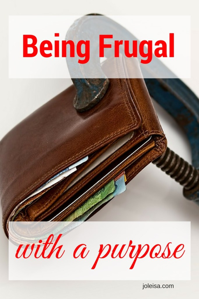 being frugal