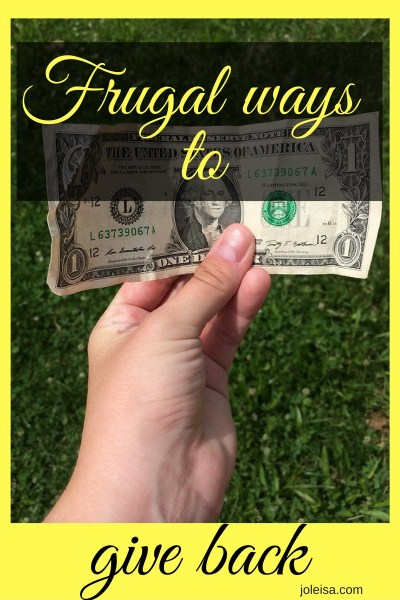 Frugal Ways to Give Back