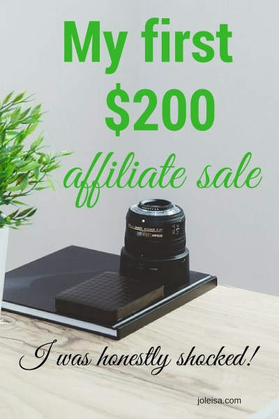 How I made my first affiliate sale