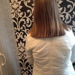 The hair cut and ready to be sent off to the Little Princess Trust.