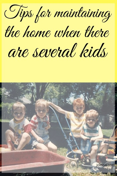 Simple Tips for Home Maintenance when you have Several kids