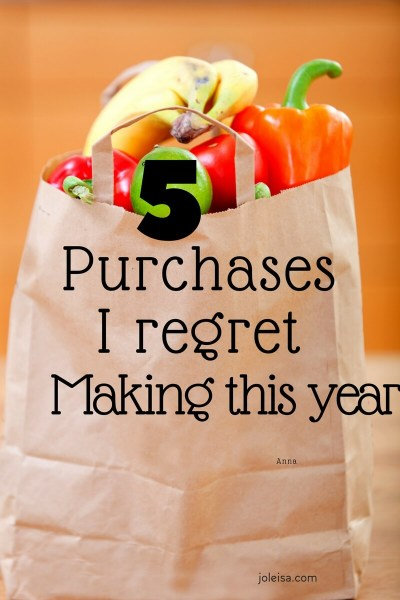 Five Products I Regret Buying this year