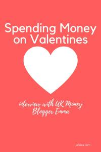 Is it right to be spending money on Valentines or is it just a ploy by the big stores to separate us from our money. Read what money blogger Emma thinks.