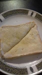 Frugal things, homemade butter on toast