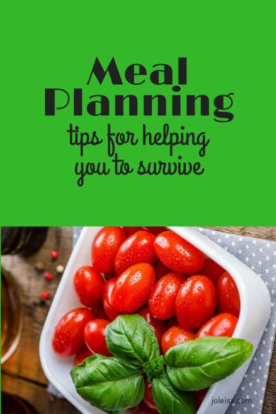 Meal Planning and Tips for Organising Things