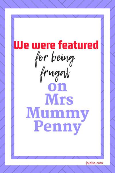 Being Featured for Being Frugal on Mrs Mummy Penny