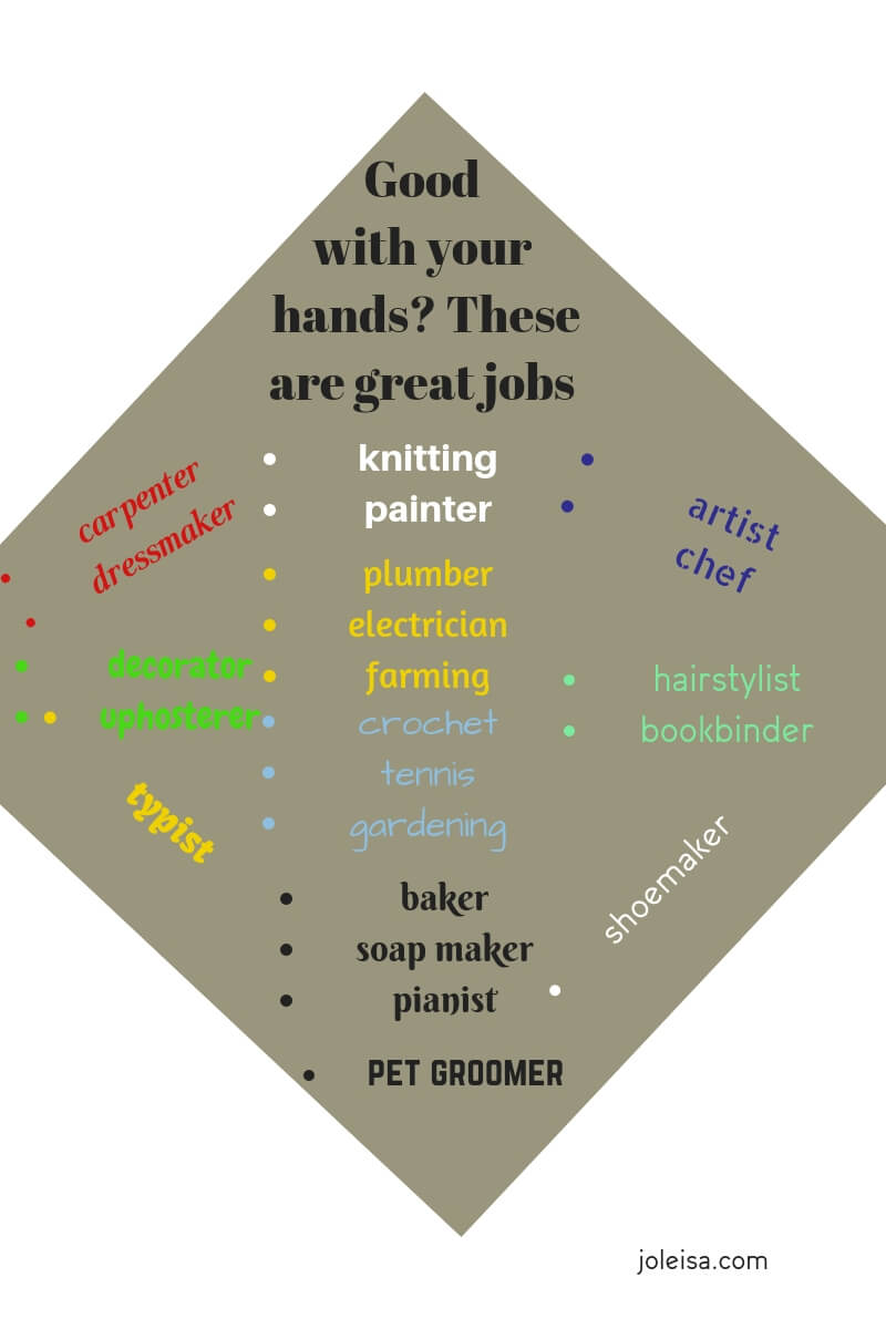 People who are good with their hands should not worry about making a living. I know many people who are raking in the cash daily. Here are some good job choices.