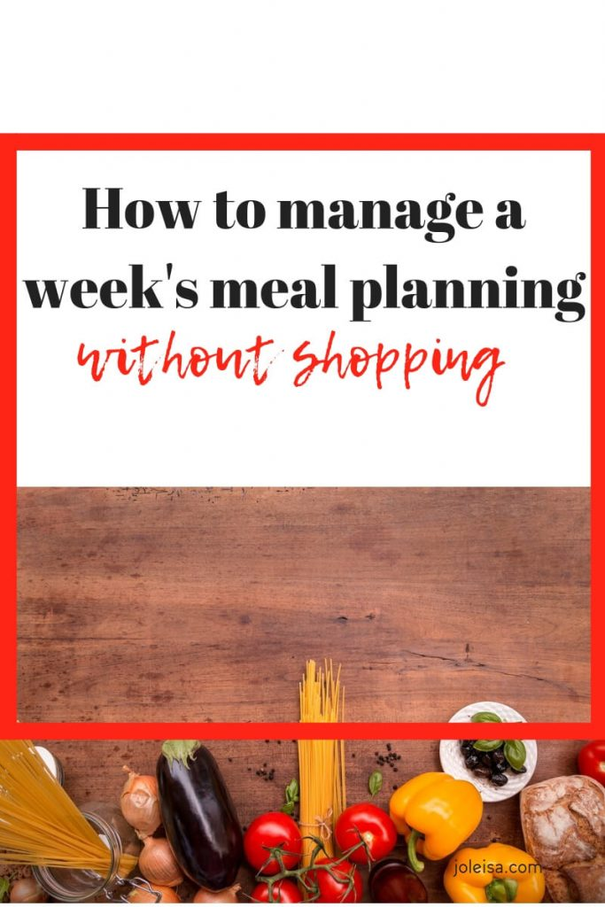 Based on the type of grocery shopping you do, it is possible to plan and prepare weeks of meals at a time, without shopping for more groceries.