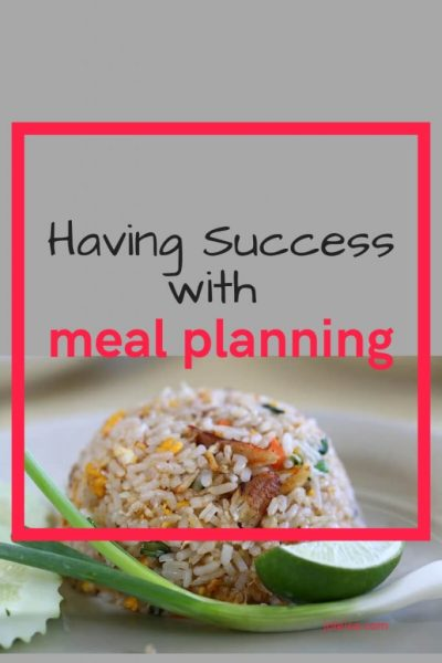 Success at Meal Planning