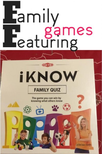 Family Games Night with iKnow Family Game
