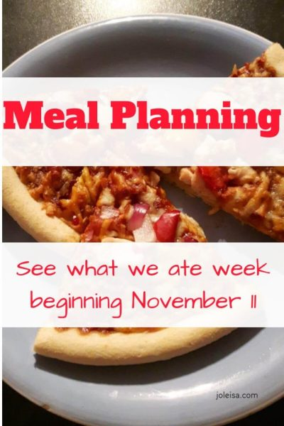 Meal Planning This Week November 11