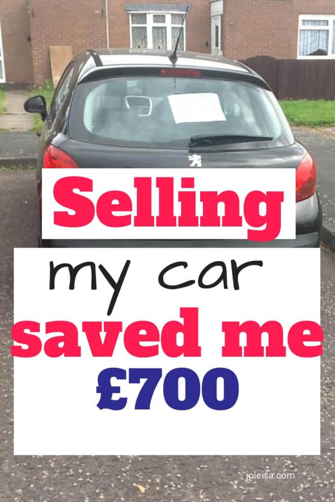 All the money you have to oay when you have a car add up. Here is how I saved £700 by selling the car I had bought for my son to learn to drive with.