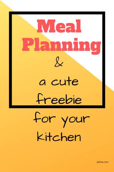 Meal Planning and a Coffee Canister Giveaway for Week Beginning April 1