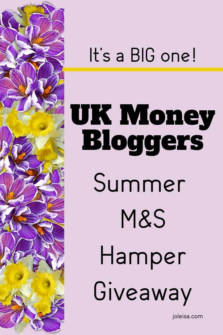 UK money bloggers summer giveaway
