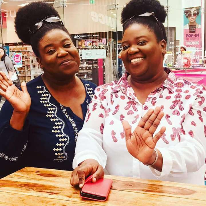A picture of Jo and Leisa on their final day of the TV program Shop Smart Save Money