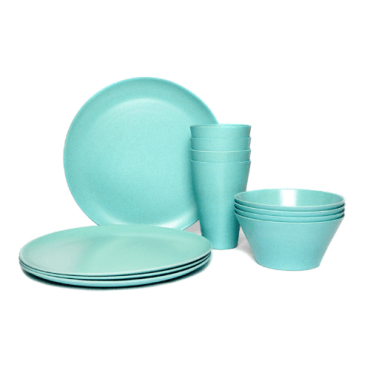 eco friendly glass and plate set for mothers day