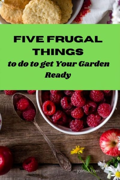 Step into Spring: Five Frugal Things to do to get Your Garden Ready