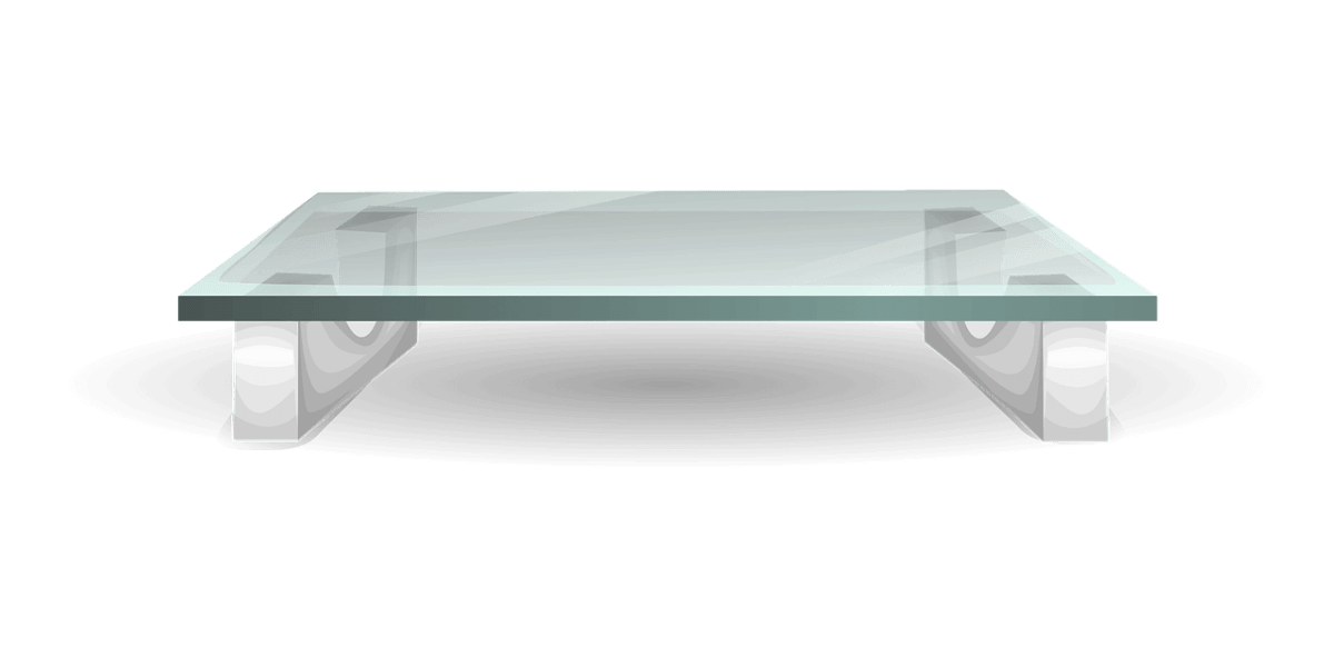 small glass top table as part of home renovations