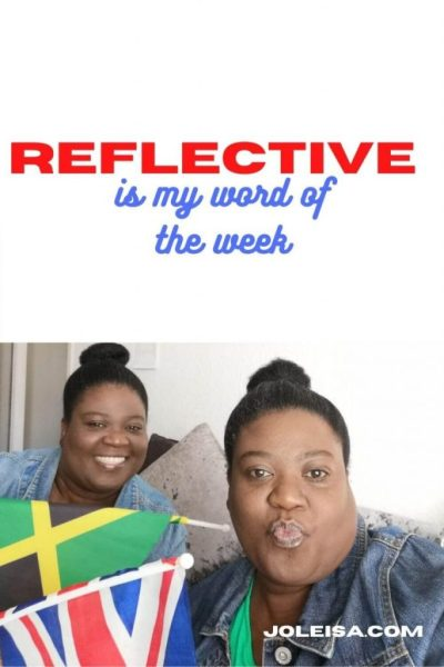 Our Word of the Week is Reflective