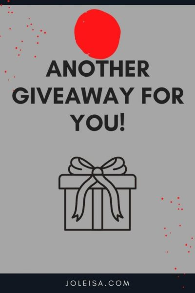 Another giveaway for you