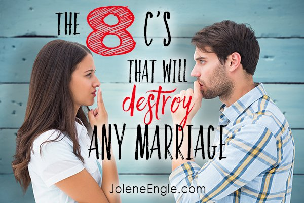 I did not get married in hopes of having my marriage breakdown. Find out here what the 8'c are that will destroy any marriage (and the cures to restore and redeem it).