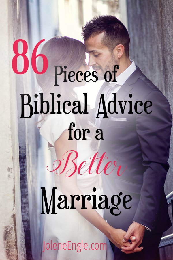 86 Pieces of Biblical Advice for a Better Marriage